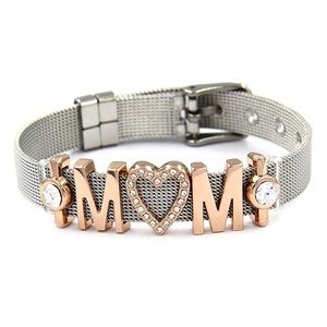 Jewelry - MOM WITH HEART RHINESTONE - ROSE GOLD